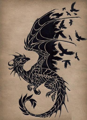 flying-birds-from-dragon-tattoo-design-flash